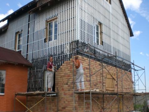 Фасад в Дроздово пер. Весенний 14 июль -сентяборь 2014